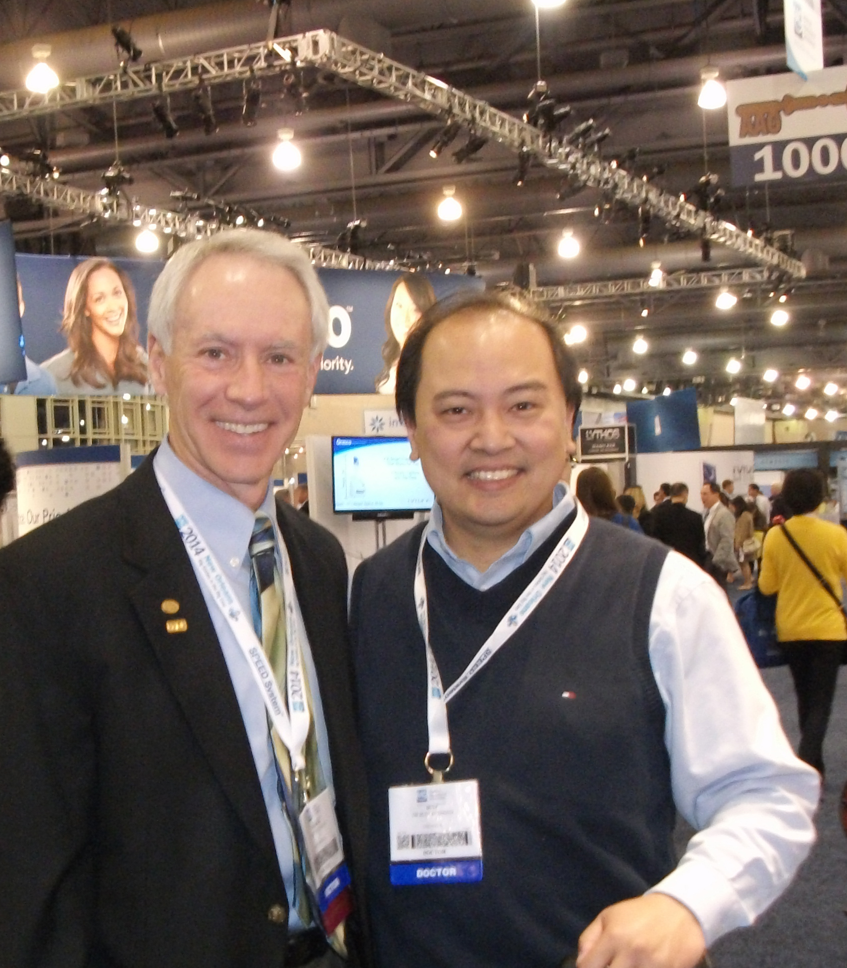 Dr Kusnoto And Dr Patrick Foley President Of Illinois Society Of